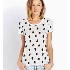 Forever 21 Short Sleeve T Shirt Kitty Cat S